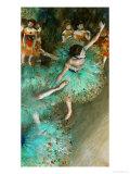 Vihreä tanssija, n. 1880 Giclée-vedos tekijänä Edgar Degas