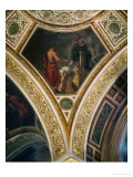 King Lykurgos Consults the Pythia, Frescos from the Spandrels of the Main Hall Giclee Print by Eugene Delacroix