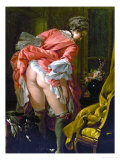 The Raised Skirt, 1742 Giclee Print by Francois Boucher