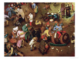 Fight Between Carnival and Lent, Detail, 1559 Giclee Print by Pieter Bruegel the Elder