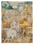 Madonna with a Multitude of Animals Gicl&#233;e-Druck von Albrecht D&#252;rer