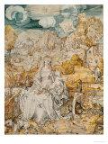 Madonna with a Multitude of Animals Giclée-Druck von Albrecht Dürer