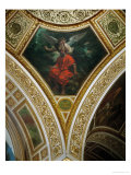 Socrates and His Demon, Frescos from the Spandrels of the Main Hall Giclee Print by Eugene Delacroix