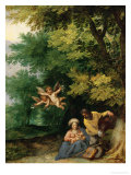 Rest During the Flight to Egypt, 1595, Figures by H. Rottenhammer Giclee Print by Jan Brueghel the Elder