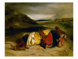 The Death of Hassan, or Turkish Officer Killed in the Mountains (1825) Giclee Print by Eugene Delacroix