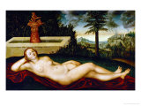 Reclining Water-Nymph Giclee Print by Lucas Cranach the Elder
