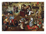 Fight Between Carnival and Lent, Detail Giclee Print by Pieter Bruegel the Elder
