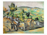 Aix En Provence, Rocky Countryside Giclee Print by Paul Cézanne
