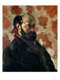 Self-Portrait Before a Pink Background, circa 1875 Giclee Print by Paul Cézanne