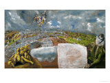 View and Map of Toledo Giclee Print by El Greco 