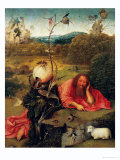 Saint John Baptist in Meditation Giclee Print by Hieronymus Bosch