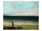 Palavas or the Artist by the Sea, 1854 Giclee Print by Gustave Courbet