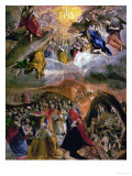 The Dream of Philip (Felipe) II, 1579 Giclée-trykk av  El Greco