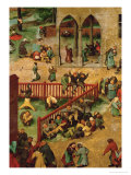 Children's Games Giclee Print by Pieter Bruegel the Elder