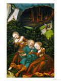 Lot and His Daughters, 1528 Giclee Print by Lucas Cranach the Elder