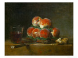 Chest with With Peaches and Nuts Giclee Print by Jean-Baptiste Simeon Chardin