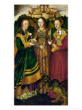 St. Catherine's Altar, Triptych on Lime Wood (1506), Right Panel Giclee Print by Lucas Cranach the Elder