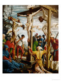 Crucifixion, Right Outer Wing of the Sebastian Altar, Spruce Wood (Before 1518) Giclee Print by Albrecht Altdorfer