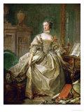 Madame De Pompadour (1721-1764) Giclee Print by Francois Boucher