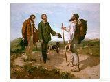 The Encounter (Bonjour M. Courbet), 1854 Impression giclée par Gustave Courbet