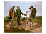 The Encounter (Bonjour M. Courbet), 1854 Giclee Print by Gustave Courbet