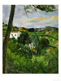 Landscape with Red Rooftops, Also Called Pine-Tree at L'Estaque, 1876 Giclee Print by Paul Cézanne