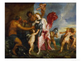 Thetis Receives Arms and Amour for Achilles from Hephaistos, 1630-1632 Giclee Print by Sir Anthony Van Dyck