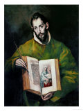 Saint Luke Evangelist Giclee Print by El Greco 
