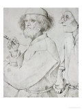 Painter and Patron (With Brueghel&#39;s Self-Portrait), Drawing Giclee Print by Pieter Bruegel the Elder
