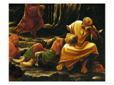 Christ on Mount Olives, the Sleeping Apostles Giclee Print by Albrecht Altdorfer