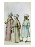 Study of Turkish Costumes Giclee Print by Albrecht Dürer