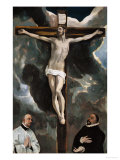 Crucifixion with Two Donors Giclee Print by  El Greco