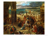 The Crusaders Take Constantinople, 12 April 1204 Giclee Print by Eugene Delacroix