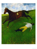 The Fallen Jockey, 1896-1898 Giclee Print by Edgar Degas