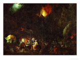 Temptation of Saint Anthony Giclee Print by Jan Brueghel the Elder