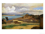 Ischia, Seen from Mount Epomeo, 1828 Giclee Print by Jean-Baptiste-Camille Corot