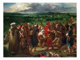 Arab Comedeans, 1848 Giclee Print by Eugene Delacroix
