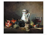 Raisins, Pomegranates and Coffee-Pot Giclee Print by Jean-Baptiste Simeon Chardin