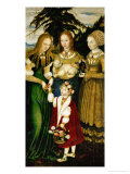 Saint Catherine's Altar, 1506 Giclee Print by Lucas Cranach the Elder