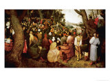 Saint John the Baptist Preaching Giclee Print by Pieter Bruegel the Elder