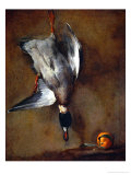 Duck, Hung on a Wall, and a Seville Orange Giclée-Druck von Jean-Baptiste Simeon Chardin