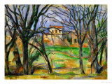 Trees and Houses, circa 1885 Giclee Print by Paul Cézanne