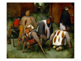 The Mendicants Giclee Print by Pieter Bruegel the Elder
