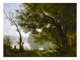 Memory of Mortefontaine, France, 1864 Reproduction procédé giclée par Jean-Baptiste-Camille Corot