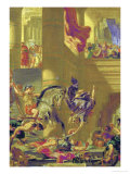 Heliodoros Expelled from the Temple, after Trying to Confiscate the Temple Treasure Giclee Print by Eugene Delacroix