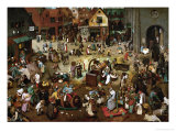 Fight Between Carnival and Lent, 1559 Giclée-Druck von Pieter Bruegel the Elder