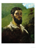 Self-Portrait, 1850-1853 Giclee Print by Gustave Courbet