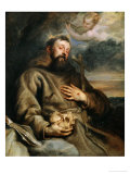 Saint Francis of Assisi, circa 1627-1632 Reproduction proc&#233;d&#233; gicl&#233;e par Sir Anthony Van Dyck