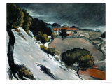 Melting Snow at L'Estaque, 1870-71 Giclee Print by Paul Cézanne