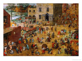 Children&#39;s Games, 1560 Giclee Print by Pieter Bruegel the Elder